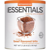 Emergency Essentials Food Imitation Beef Flavored Bits Textured Vegetable Protein, 41 oz