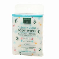 Earth Therapeutics Clean + Cool Foot Wipes
