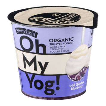 Stonyfield Organic Oh My Yog! Trilayer Yogurt Wild Quebec Blueberry
