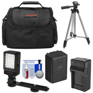 Precision Design Essentials Bundle for Panasonic V160 V180 V380 V770 VX981 W570 W580 WX970 WXF991 with Battery & Charger + Case + LED Video Light + Tripod + Kit