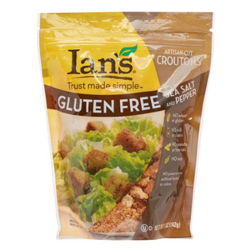 Ian's Natural Foods Gluten Free Artisan-Cut Croutons Sea Salt and Pepper 5 oz