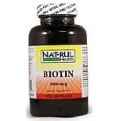 Nat-Rul Biotin 5000 mcg Capsules 100 ea