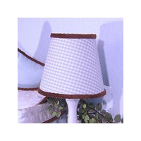 Brandee Danielle Blue Chocolate Lampshade in Blue Gingham
