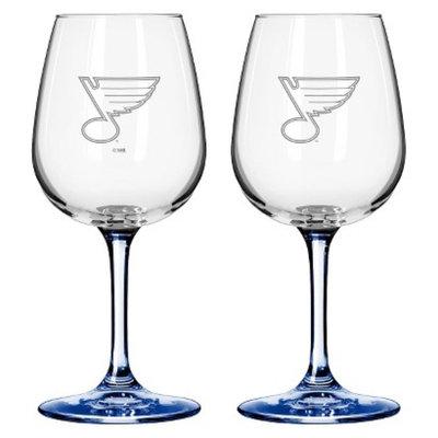 Boelter Brands NHL 2 Pack St. Louis Blues Wine Glass - 12 oz