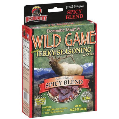 Hi-country Snack Foods Hi-Country Trail Blazin' Spicy Blend Jerky Seasoning & Cure, 14.23 oz