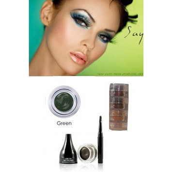 Bundle- 2 Items: Mica Beauty Cosmetics Mineral Makeup Gel Eyeliner Brown + Aviva Shimmer Eye Shadow 3 Stacks