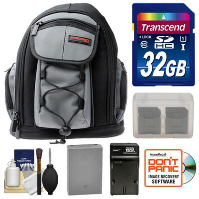 Precision Design PD-MBP ILC Digital Camera Mini Sling Backpack with 32GB Card + BLN-1 Battery & Charger + Accessory Kit for Olympus OM-D E-M5 Camera