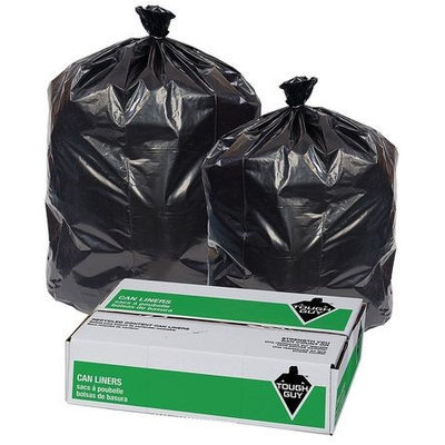 TOUGH GUY 29WK96 Trash Bags,32 gal,2.7 mil, PK50