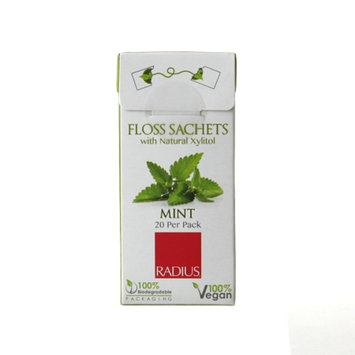 RADIUS Floss Sachets, Vegan Xylitol, Mint, 20 ea