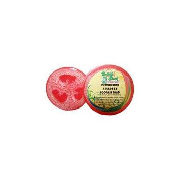 Bubble Shack Hawaii 492773501486 Persimmon and Papaya Loofah Soap - Pack of 2