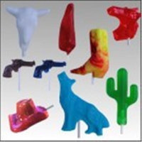 Grand Canyon Foods 84876 3D Western Assorted Shaped Lollipops, 24 Pack