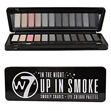W7 Natural Nudes Naked Eye Color Palettes Up In Smoke 12-in-1 Gorgeous Eyeshadow Shades for Smoldering Smoky Eyes [Up In Smoke]