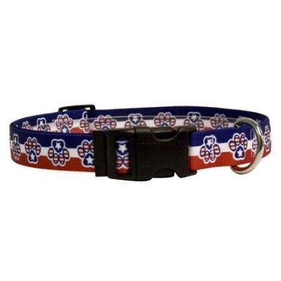 Yellow Dog Design PP100XS Patriotic Paws Standard Collar - Extra Small