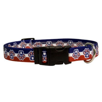 Yellow Dog Design PP100XS Patriotic Paws Standard Collar - Extra Small