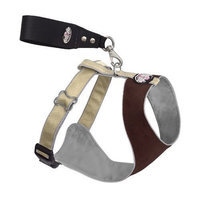 Doggles Over the Head Dog Harness, Brown/Tan, XX Small