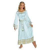 Disney Maleficent Girl's Maleficent - Aurora Deluxe Blue Dress - M(7-8)