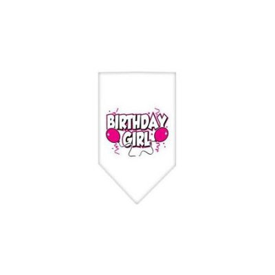 Ahi Birthday Girl Screen Print Bandana White Large