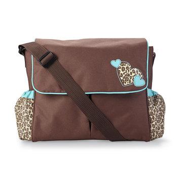 Tender Kisses Fashion Messenger Diaper Bag Leopard Spot - Rose Art