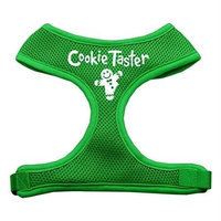 Mirage Pet Products 7008 MDEG Cookie Taster Screen Print Soft Mesh Harness Emerald Green Medium