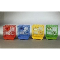 Prevue Pet Products 2 Story Gerbil Hamster Cage 14x11x15 Inch Pack Of 4 - 2010C