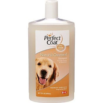 8In1 Pet Products Perfect Coat Natural Oatmeal Shampoo for Dogs, 32 Ounce Bottle, French Vanilla