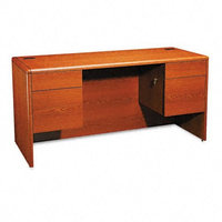 The HON COMPANY Credenza with Knee Space, 60 by 24 by 29-1/2-Inch, Henna Cherry