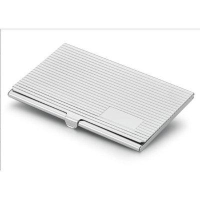Visol V902B Bravada Silver Plated Business Card Case