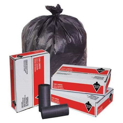 TOUGH GUY 49P436 Trash Bags,60 gal,19 micron, PK150