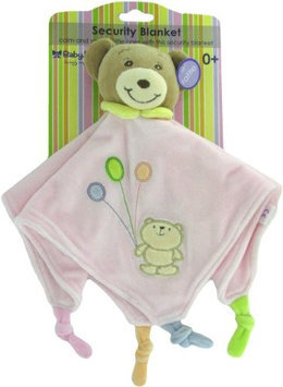 Russ Baby Bow Teddy Bear Rattle Blanket in Pink