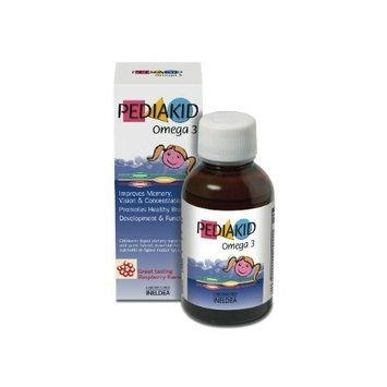 Pediakid Omega 3 Fish Oil Natural Liquid Children Vitamins to Promote Healthy Development and Brain Growth