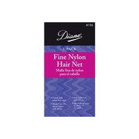 Diane Fine Nylon Hair Nets - Grey (3 Pack)