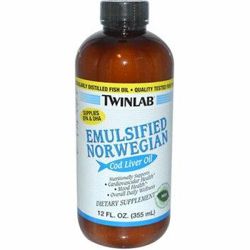 Twinlab Emulsified Norwegian Cod Liver Oil Mint 12 fl oz