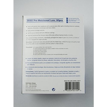 Zeiss Lens Cleaning Wipes 100 Count Pre-moistened Wipes