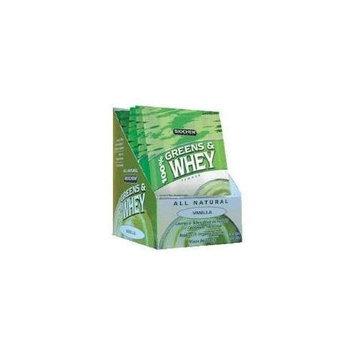 Bio Chem Biochem 100% Greens and Whey Protein Powder, Vanilla, 10-Count, 1-Ounce Single Serving Packs