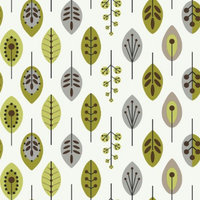 Target Home Leaves Wallpaper - White/Lime/Brown