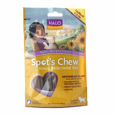 Halo, Purely For Pets Spot's Chew Edible Dental Treats, Nutty Banana, 5.6 oz