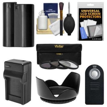 Vivitar Essentials Bundle for Nikon D7100 DSLR Camera & 18-140mm VR Lens with EN-EL15 Battery & Charger + Remote + 3 UV/CPL/ND8 Filter Kit
