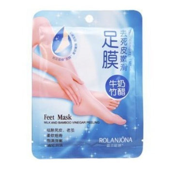 Mintmall Beauty 14 Pairs (28 Pcs) of ROLANJONA Exfoliating Foot Mask Peeling Feet Masks , Exfoliating Scrub, Whitening and Moisturiser, Clear Foot Odour, Remove Hard Dead Skin, Soft Feet, Cleanser, Milk Bamboo Vinegar Remove Dead Skin Foot Skin