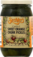 Sechlers Pickle Candied Swt Orng Chnks (Pack of 6)