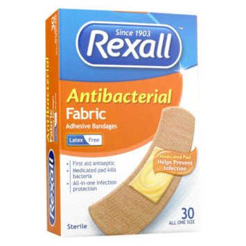 Rexall Antibacterial Fabric Bandage - 30 ct - .75