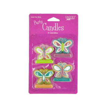 Birthday In A Box Creative Converting Mod Butterfly Candles - 4 ct