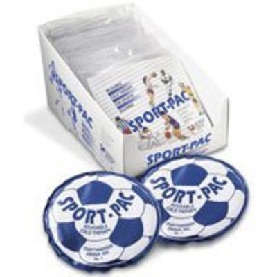 Sport Pac Sport-Pac cold pack vinyl blue reusable cold therapy with soccer ball - 1 ea