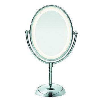 Conair Oval Polished Chrome 1x/7x Lighted Mirror