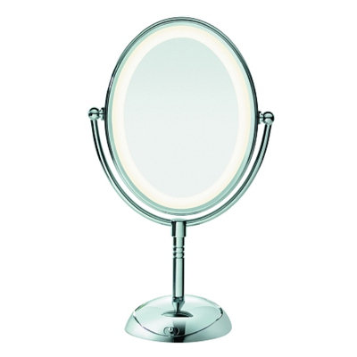Conair Oval Polished Chrome 1x/7x Lighted Mirror