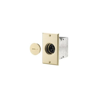 Cooper Lighting Cooper Wiring 5797-10 Brass Floor Single Receptacle Single Pole Outlet Commercial Grade