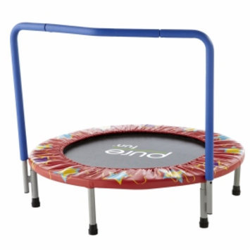 Pure Fitness 36in Kids Mini Trampoline with Handrail, 1 ea