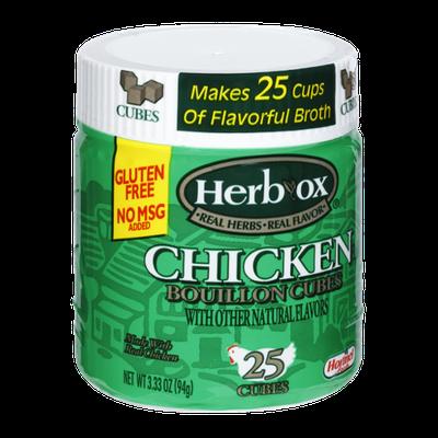 Herbox Chicken Bouillon Cubes - 25 CT