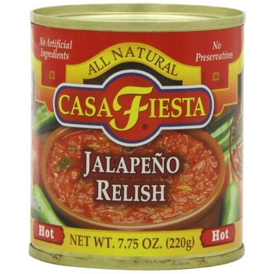 Casa Fiesta Jalapeno Relish, 7.75-Ounce Cans (Pack of 12)