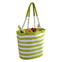 Picnic at Ascot - Insulated Cooler Tote - Apple/White Stripe