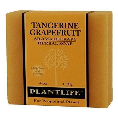 Plantlife Tangerine & Grapefruit Aromatherapy Herbal Soap 4 oz.(113g)
